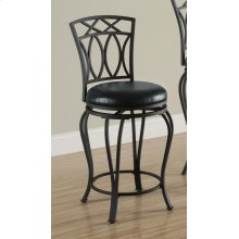 Casual Black Metal Counter Stool