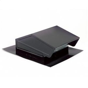 "Roof Cap in Black 8"" Round Duct"