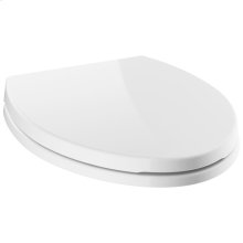 White Elongated Standard Close Toilet Seat