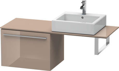 Low Cabinet For Console, Cappuccino High Gloss Lacquer