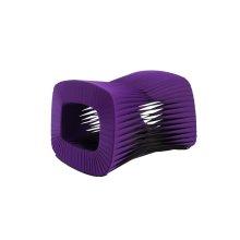 Seat Belt Ottoman, Purple