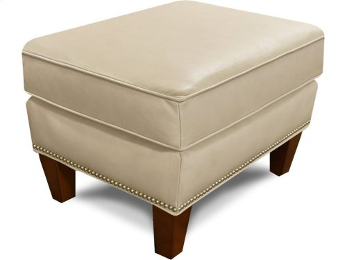 Olive Ottoman with Nails 477ALN