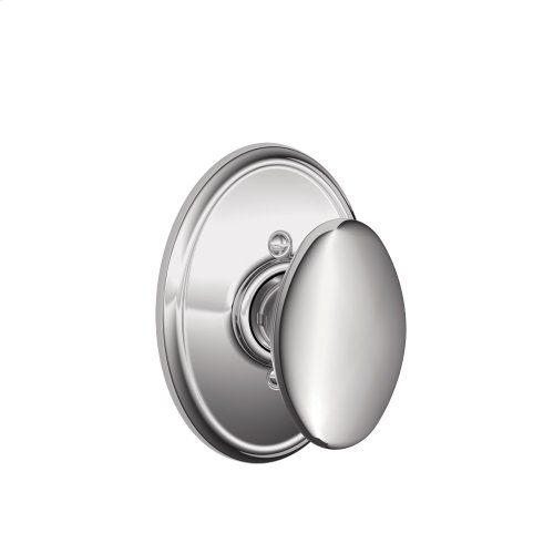 Siena Knob with Wakefield trim Non-turning Lock - Bright Chrome