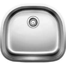 Blanco Stellar® D Single Bowl - Stainless Steel Refined Brushed Finish