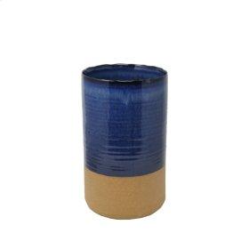 """Beige/blue Vase 13"""""""