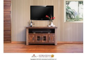 """76"""" TV Stand w/2 doors & 6 drawers * The 2 top Middle Drawers have drop down door"""