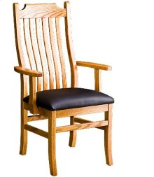 Madison Arm Chair w/ Leather Seat