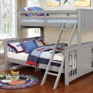 Spring Creek Twin Xl/queen Bunk Bed, Gray Product Image