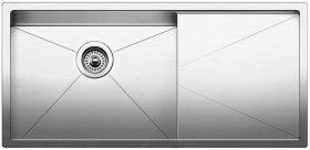 Blanco Precision 16'' R10 Medium Single Bowl With 16'' Drainer - Satin Polished Finish