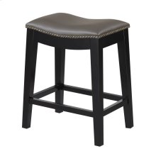 24'' Bar Stool W/no Back-kd-pu Gray#al850-3 (2/ctn)