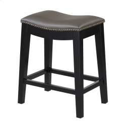 24'' Bar Stool W/no Back-kd-pu Gray#al850-3 (2/ctn) Product Image
