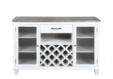 Server-reclaimed Wood Top-antique White Base