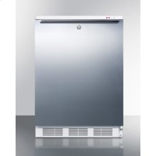 Freestanding Medical All-freezer Capable of -25 C Operation, With Lock, Wrapped Stainless Steel Door and Horizontal Handle