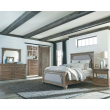 Florence Traditional Rustic Smoke and Grey Eastern King Five-piece Set