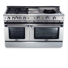 "60"" six burner gas self-clean range w/ Power-Wok™ + convection oven - NG"