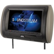 "9"" Universal Headrest Monitor with DVD Player, IR & FM Transmitters & Interchangeable Skins"