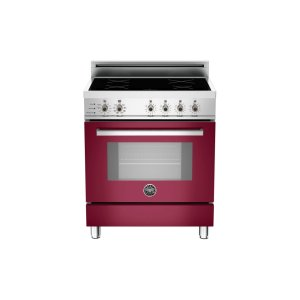 30 4-Induction Zones, Electric Self-Clean oven Burgundy - Burgundy