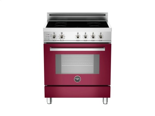 30 4-Induction Zones, Electric Self-Clean oven Burgundy