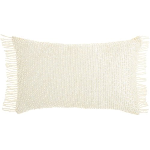 "Luminescence Ns991 Ivory 12"" X 20"" Throw Pillows"