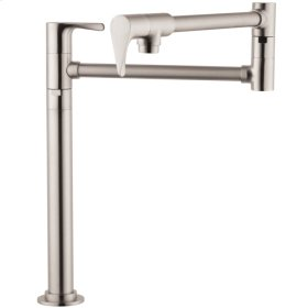 Stainless Steel Optic Single lever kitchen mixer deck-mounted