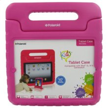 Polaroid Shock Absorbing Kids iPad 2 and iPad 3 Case with Carrying Handle, Pink - PAC9001PK