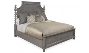Morrissey California King Healey Panel Bed - Smoke