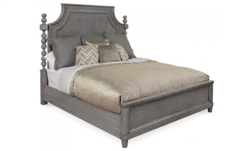 Morrissey Eastern King Healey Panel Bed Smoke