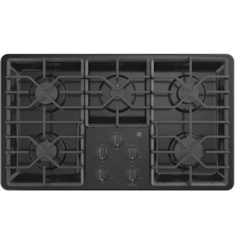 "36"" Built-In Gas Deep Recessed Black Cooktop"
