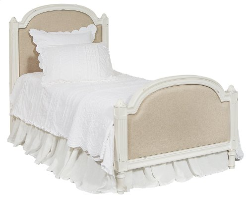 Tan Sisters Upholstered Twin Bed