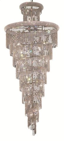 1800 Spiral Collection Large Hanging Fixture Chrome Finish