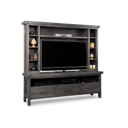 Rafters HDTV Unit w/Hutch with 44'' TV Opening