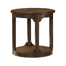 Facet Round End Table