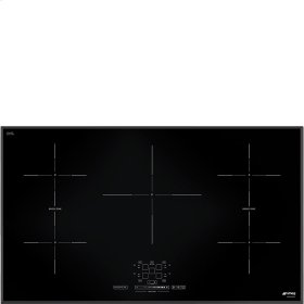 """92 CM (approx. 36""""), Induction cooktop, black, ultra-low profile"""