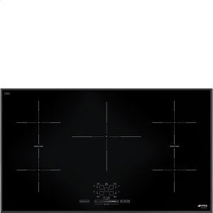 "Smeg92 CM (approx. 36""), Induction cooktop, black, standard building type"