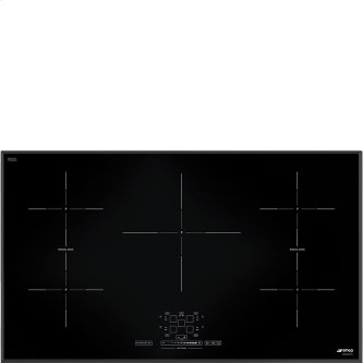 """92 CM (approx. 36""""), Induction cooktop, black, standard building type"""