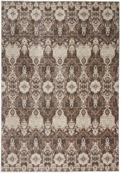 Silver Screen Ki341 Mocha/slate Rectangle Rug 5'3'' X 7'3''