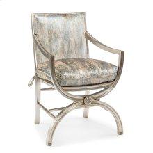 Armchair with Eglomise Arabesque Back