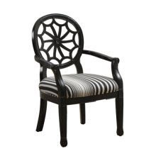 Black with Black Striped Spider Back Chair