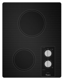 15-inch Electric Cooktop with Easy Wipe Ceramic Glass