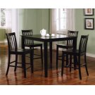 Transitional Black Five-piece Dining Set Product Image