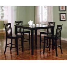 Transitional Black Five-piece Dining Set