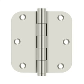 "3 1/2""x 3 1/2"" x 5/8"" Radius Hinge, Residential - Polished Nickel"