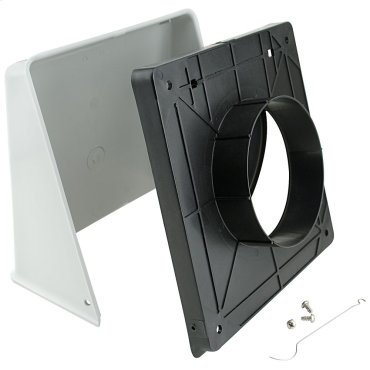 """Surface Wall Cap Damper - 5"""" Round Duct"""