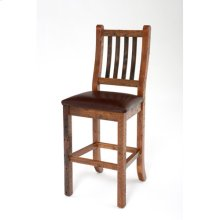 Heritage Bar Stool With Leather Seat