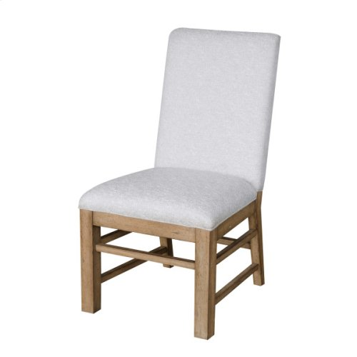 Two-Tone Casual Dining Side Chair in Grey / Birch Brown