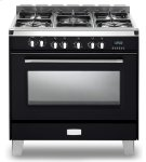 "Matte Black Verona Classic 36"" Dual Fuel Single Oven Range Product Image"