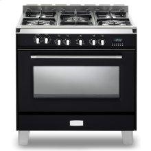 "Matte Black Verona Classic 36"" Dual Fuel Single Oven Range"