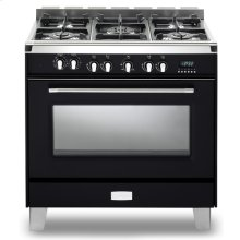 "Matte Black Verona Classic 36"" Dual Fuel Single Oven Range"