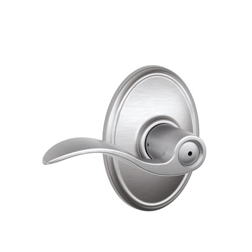 Accent Lever with Wakefield trim Bed & Bath Lock - Satin Chrome