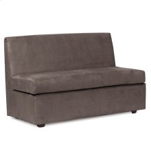 Slipper Loveseat Bella Pewter